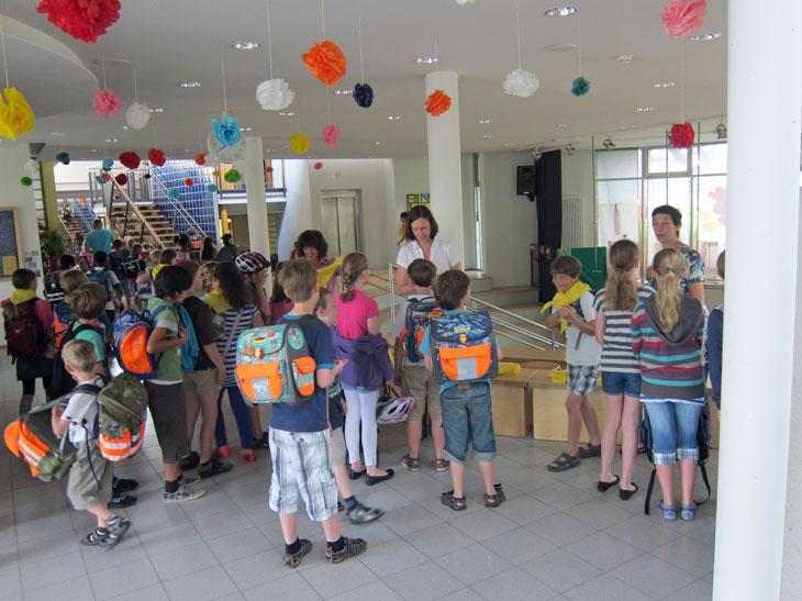 Abschlussfeier 2012 - morgendliche Begrüßung